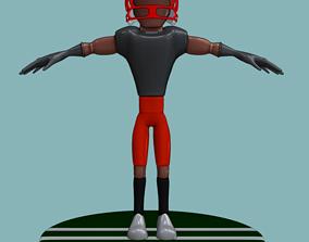 Stylized Football Player 3D asset