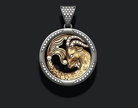 3D printable model Horoscope Capricorn pendant with gems