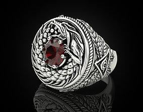 Ouroboros dragon ring 3D print model