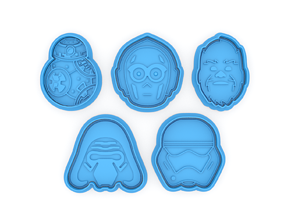 Star Wars new collection cookie cutters 3D printable model