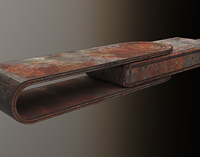 3D model USB Stick Low Poly Rusty Version 2 - gameready 1