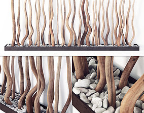 3D Branch thick fundament pebble