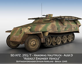 3D SDKFZ 251 Ausf D - Assault Engineer Vehicle - 542