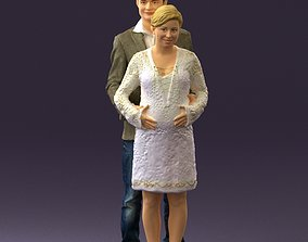 3D A man and a pregnant woman 0448