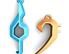 3D print model Clefs pendants