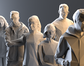3D model VectorPeople Sixpack 001 rigged