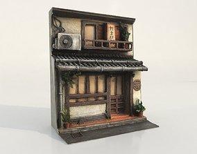 3D asset - Japanese House Facade -