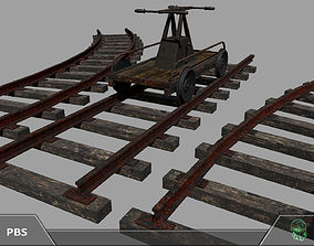 3D asset Railroad trolley draisine