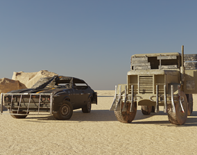 3D model Post apocalyptic Car and Truck