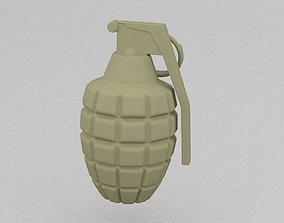 3D print model hand grenade
