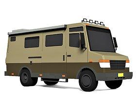 3D model Cartoon Camping Caravan