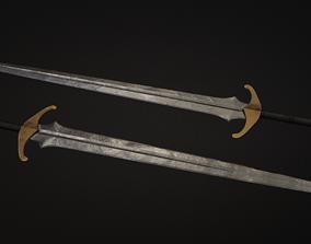 melee game-ready Medieval Sword 3D Model