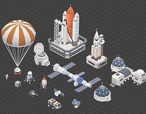 Space exploration pack 3D model