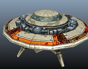 FLYING SAUCER 3D model animated