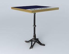 3D brass BISTRO TABLE SQUARE ARDAMEZ Company