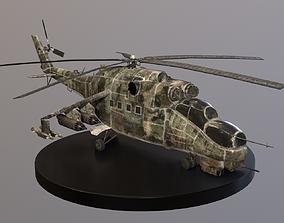 Post-Apo Mi-24 Attack Helicopter 3D model