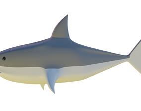 3D low poly shark