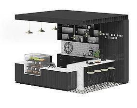 Black Kiosk 3D Model