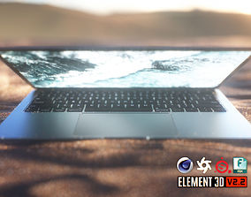 3D asset MacBook Air