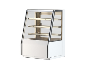 Refrigerated High Bakery Display Case 3D