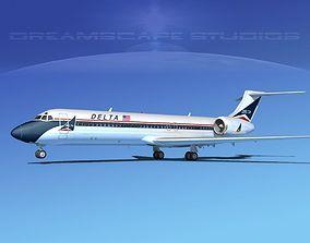 Boeing 717-200 Delta 1 3D