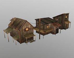chalet wood house 3D model realtime