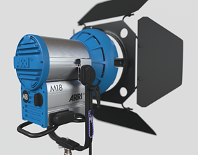ARRI M18 daylight lamphead 3D model