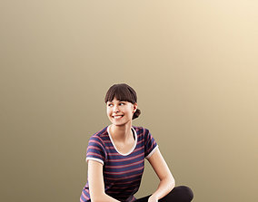 3D 11535 Alyssa - Smiling Young Woman Sitting On The