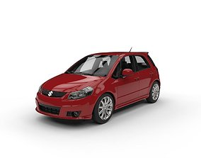 3D model Suzuki SX4 Sportback C4DVray and standard Low