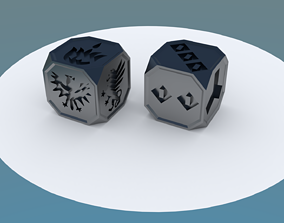 Action and Faction bones for Dune Dice Game - 3D model 1