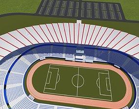 3D model VR / AR ready Stadium