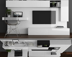 3D model Tv stand and workplace