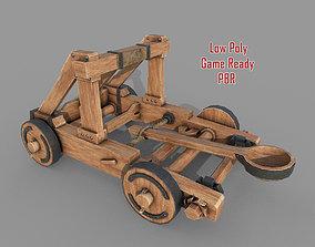 3D asset Medieval Wooden Catapult