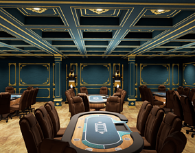 POKER TABLE 3D model game-ready poker