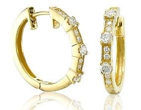 Fancy Woman Diamond Earring 3D print model