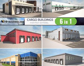 Cargo Buildings BUNDLE 3D asset
