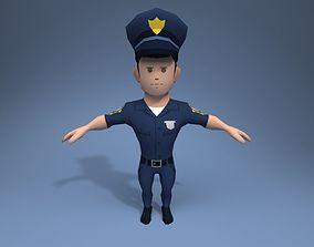 3D asset Policeman