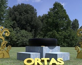3D model ORTAS TIRE NO 4 GAME READY