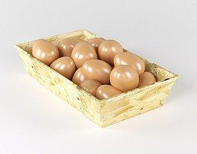 food 3D model Eggs in the basket