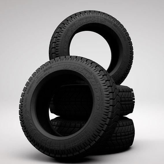 Car tire 3d models