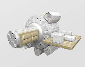 3D model Quest Airlock module on ISS