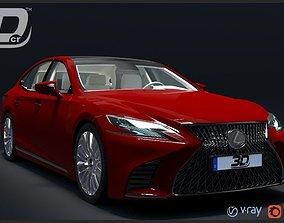 Lexus LS 500 2018 3D model luxury