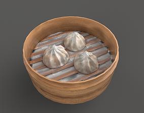 Asia food steamed port dumplings 3D asset