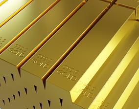 Photorealistic gold 3D model