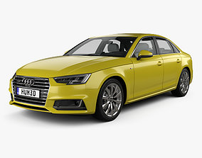 Audi A4 B9 S-line saloon with HQ interior 2016 3D model