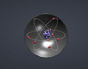 Covalent bond h2o 3D asset
