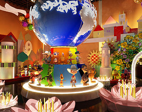 Children amusement park 07 3D model