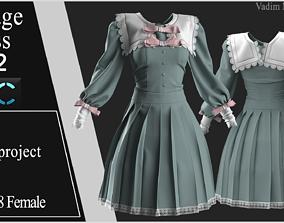 3D Vintage Dress 2