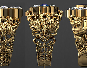 Antique Gents Men Ring Collection shiv 3D model