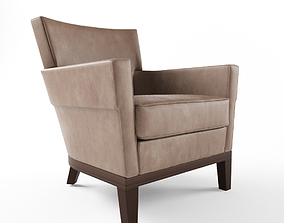3D model Holly hunt jockey club chair